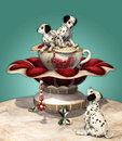 Dalmatian Puppies Stock Images