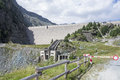 Dam in the alps Royalty Free Stock Photo