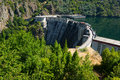 Dam of Energy power station at Sil river. Galicia Royalty Free Stock Photo