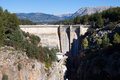 Dam at Guadalentin river.  Andalusia Royalty Free Stock Photo