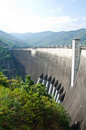 Dam of hydroelectric power station and irrigation. Stock Image