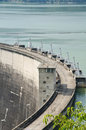 Dam of hydroelectric power station and irrigation. Royalty Free Stock Photography