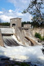 Dam imatrankoski in imatra finland Royalty Free Stock Photos