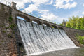 Dam in karpacz on the lomnica river poland Stock Image