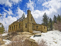 Dam Keeper's House, Big Bear Lake. CA Stock Photos