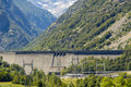 Dam lake plate entracque cuneo italy Stock Photography