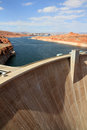 Dam in Lake Powell Stock Image