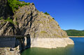 Dam lake Vidraru, Romania Royalty Free Stock Photo