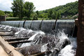 Dam overflowing Royalty Free Stock Photo