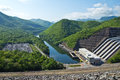 Dam power plant Royalty Free Stock Images