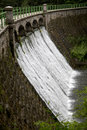 Dam on the river lomnica in karpacz poland Royalty Free Stock Photos