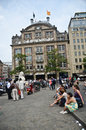 Dam Square in Amsterdam Stock Image