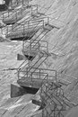 Dam stairs hetch hetchy holding the resevrior of water for the california bay area Stock Image