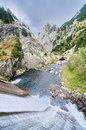 Dam and stream of Vall de Nuria Royalty Free Stock Photo