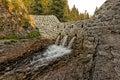 Dam on a stream in zakopane in poland Royalty Free Stock Photography