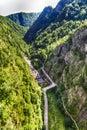 The dam from Vidraru lake in Romania Royalty Free Stock Photo