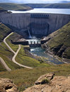 Dam wall Royalty Free Stock Image