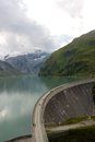 Dam wall upper lake kaprun Stock Photo