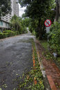 Damage done by the typhoon soulik to the taipei city taiwan july hit taiwan between july th and th causing severe day after Stock Photography