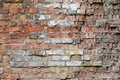 Damaged brick wall texture Stock Photo