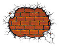 Damaged brickwall Royalty Free Stock Image