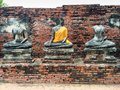 Damaged Buddha Statues Royalty Free Stock Photo