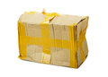 Damaged cardboard box Royalty Free Stock Photo