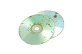 Damaged cd dvd data loss due to molder on badly Royalty Free Stock Image