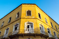 Damaged colonial building old in the old town of cartagena colombia in need of some repairs Royalty Free Stock Photos