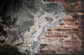 Damaged concrete wall for background Stock Photo