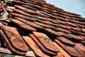 Damaged house roof Royalty Free Stock Photo