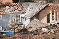 Damaged house tornado could be the result of any natural disaster Royalty Free Stock Photo