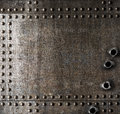 Damaged metal background with bullet holes Royalty Free Stock Photo