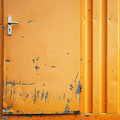 Damaged metal door Royalty Free Stock Photo