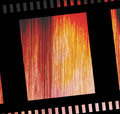Damaged negative film strip Royalty Free Stock Images