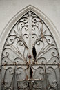 Damaged Old Ornate Metal Door Gate Royalty Free Stock Photo