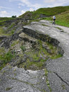 Damaged road Royalty Free Stock Photo