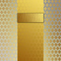 Damask 3 warm gold/Champagne  size 70 Royalty Free Stock Photos
