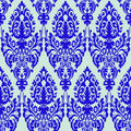 Damask blue seamless texture Royalty Free Stock Photo