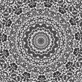 Damask Circular Pattern Seamless Background Stock Photography