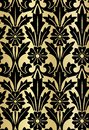 Damask design luxury seamless pattern flowery gold