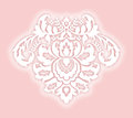 Damask element pretty offset with shadow esp Royalty Free Stock Photography