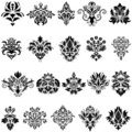 Damask emblem set Royalty Free Stock Images