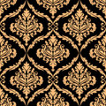 Damask floral pattern with brown colours for background design Stock Images