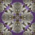 Damask floral vector seamless pattern. Flourish ornamental vintage background. Elegance flowers, scroll leaves, Baroque Victoria