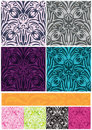 Damask Flower 8 Seamless Pattern Thanks Banner_eps Stock Photo