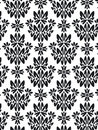 Damask foliage Pattern  Stock Images