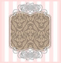 Damask frame Stock Image