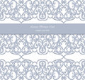 Damask Lace Invitation card with ornaments