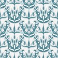 Damask monochrome seamless pattern floral Royalty Free Stock Image